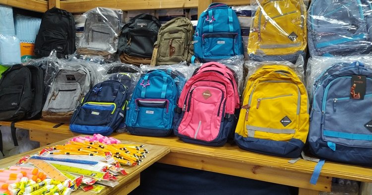 Happy Kids Go Back To School With Brand New Backpacks